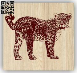 Leopard E0013576 file cdr and dxf free vector download for laser engraving machine