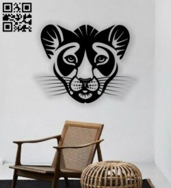 Leopard wall decor E0013634 file cdr and dxf free vector download for laser cut plasma
