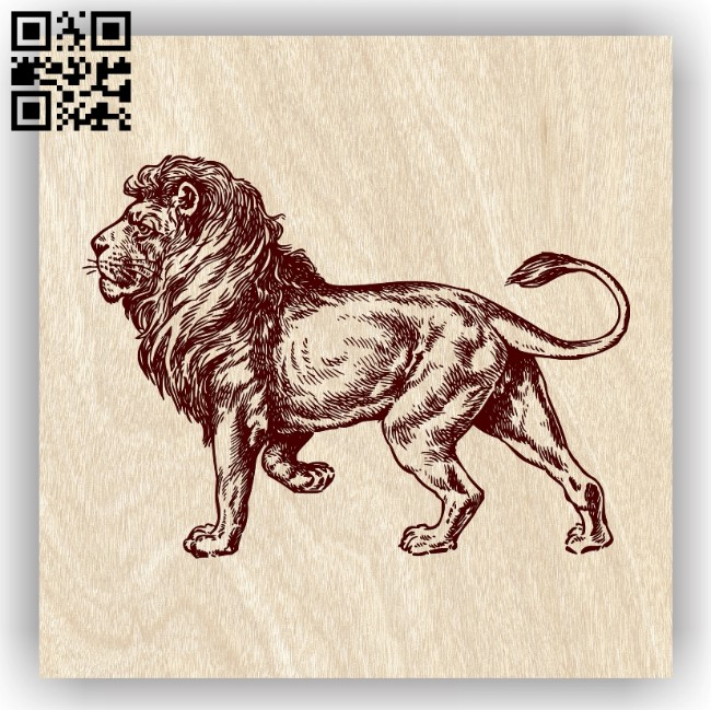 Lion E0013721 file cdr and dxf free vector download for laser engraving machine
