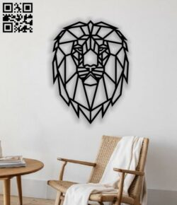 Lion wall decor E0013534 file cdr and dxf free vector download for laser cut plasma