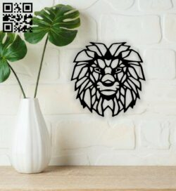 Lion wall decor E0013650 file cdr and dxf free vector download for laser cut plasma
