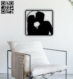 Love couple E0013680 file cdr and dxf free vector download for cnc cut plasma