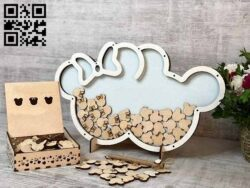 Mickey's piggy bank E0013618 file cdr and dxf free vector download for laser cut