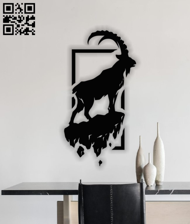 Mountain sheep E0013622 file cdr and dxf free vector download for laser cut plasma