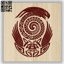 Parrot E0013505 file cdr and dxf free vector download for laser engraving machine