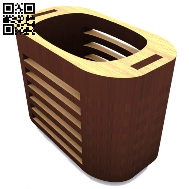 Pen box E0013602 file cdr and dxf free vector download for laser cut