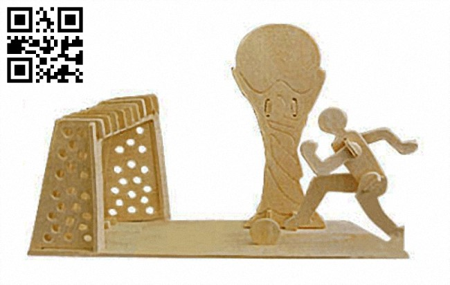 Pencil holder football pitche E0013604 file cdr and dxf free vector download for laser cut