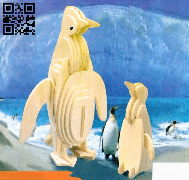 Penguins E0013603 file cdr and dxf free vector download for laser cut