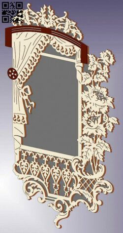 Photo frame E0013558 file cdr and dxf free vector download for laser cut