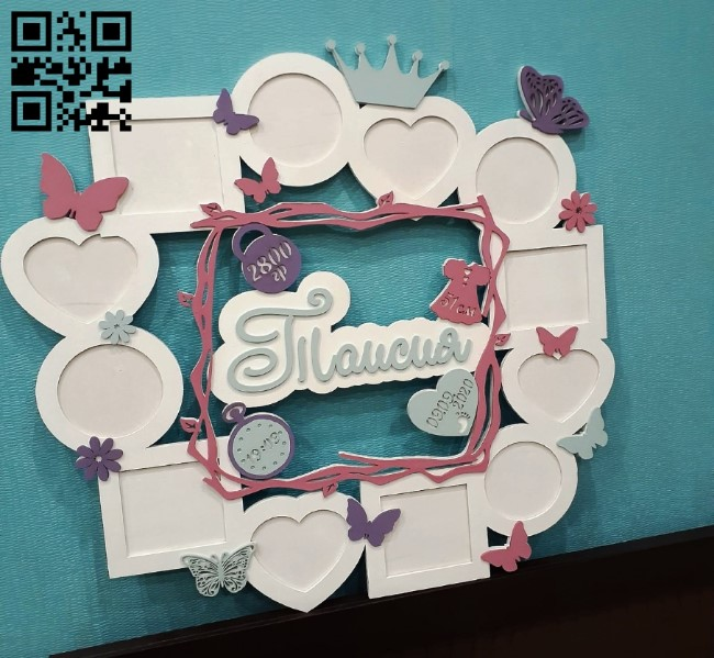 Photo frame E0013597 file cdr and dxf free vector download for laser cut