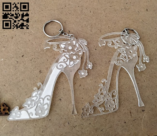 Shoe keychain E0013539 file cdr and dxf free vector download for laser cut