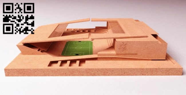 Soccer stadium E0013613 file cdr and dxf free vector download for laser cut