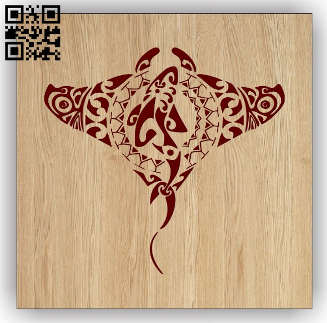 Stingray E0013501 file cdr and dxf free vector download for laser engraving machines