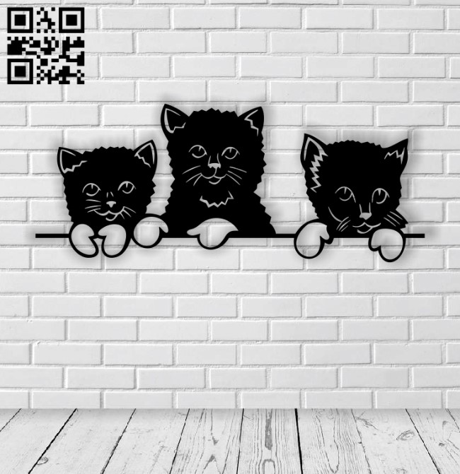 Three little kittens E0013571 file cdr and dxf free vector download for laser cut plasma