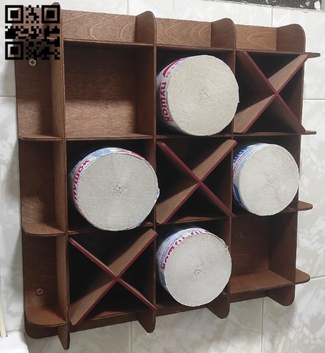 Toilet paper shelf E0013525 file cdr and dxf free vector download for laser cut