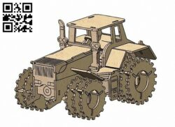 Tractor E0013686 file cdr and dxf free vector download for cnc cut