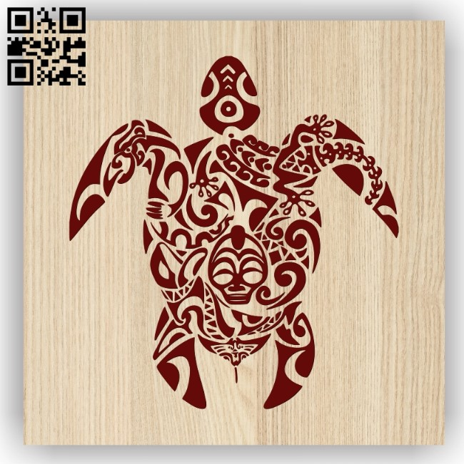 Turtle E0013504 file cdr and dxf free vector download for laser engraving machine