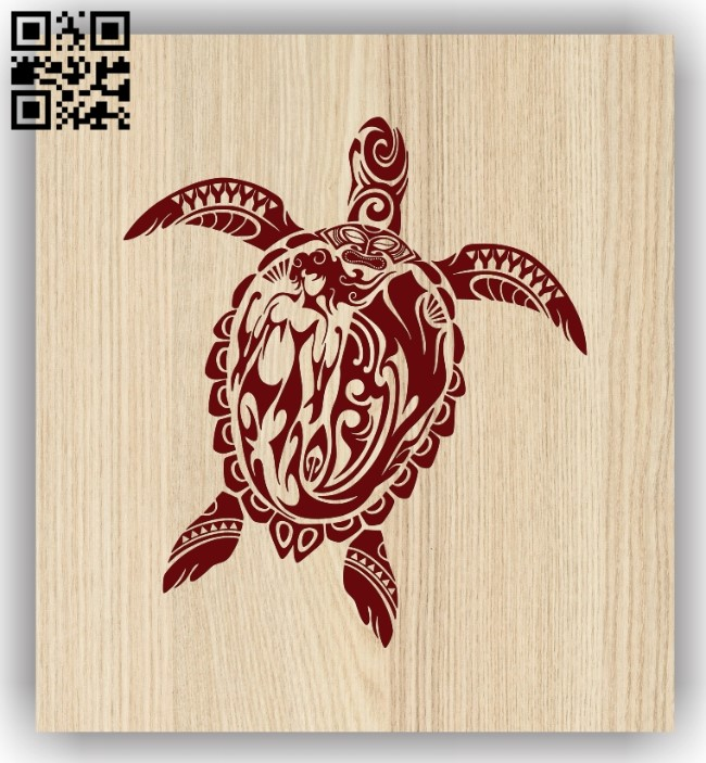 Turtle E0013639 file cdr and dxf free vector download for laser engraving machine