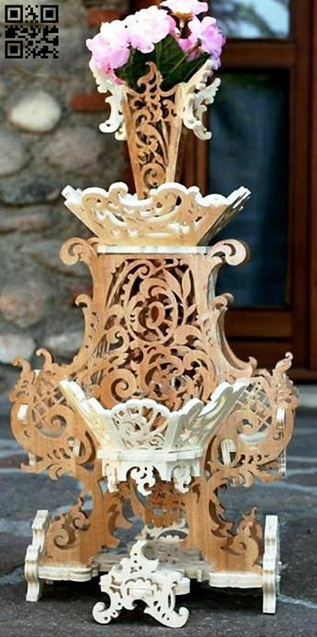 Vase E0013644 file cdr and dxf free vector download for laser cut