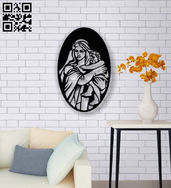 Virgin Mary E0013694 file cdr and dxf free vector download for laser cut plasma