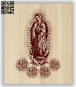 Virgin Mary E0013719 file cdr and dxf free vector download for laser engraving machine