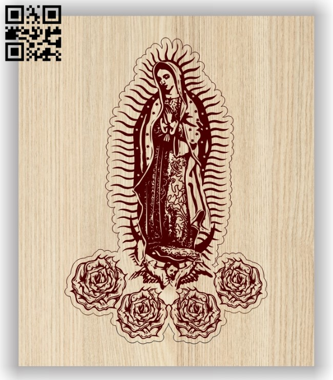 Virgin Mary E0013718 file cdr and dxf free vector download for laser engraving machine