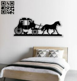 Wedding carriage E0013702 file cdr and dxf free vector download for laser cut plasma