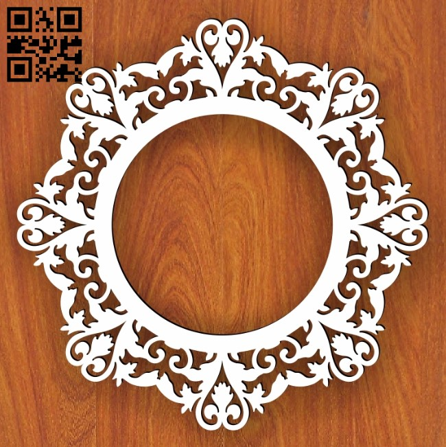 Wedding frame E0013580 file cdr and dxf free vector download for laser cut