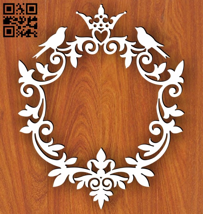 Wedding frame E0013581 file cdr and dxf free vector download for laser cut