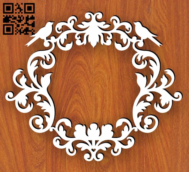 Wedding frame E0013582 file cdr and dxf free vector download for laser cut