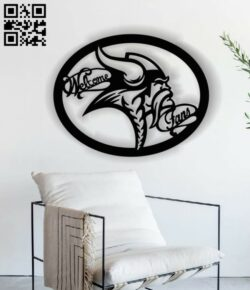 Welcome Viking Fans E0013535 file cdr and dxf free vector download for laser cut plasma