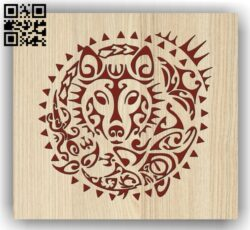 Wolf E0013503 file cdr and dxf free vector download for laser engraving machine