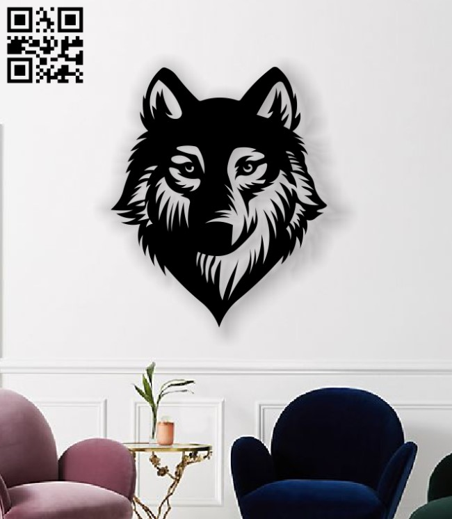 Wolf wall decor E0013533 file cdr and dxf free vector download for laser cut plasma