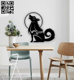 Wolf wall decor E0013591 file cdr and dxf free vector download for laser cut plasma