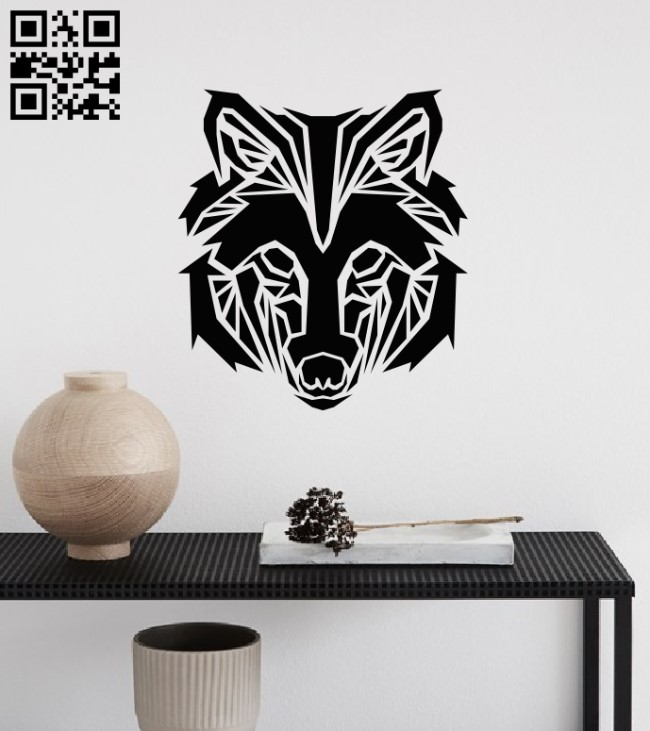 Wolf wall decor E0013624 file cdr and dxf free vector download for laser cut plasma