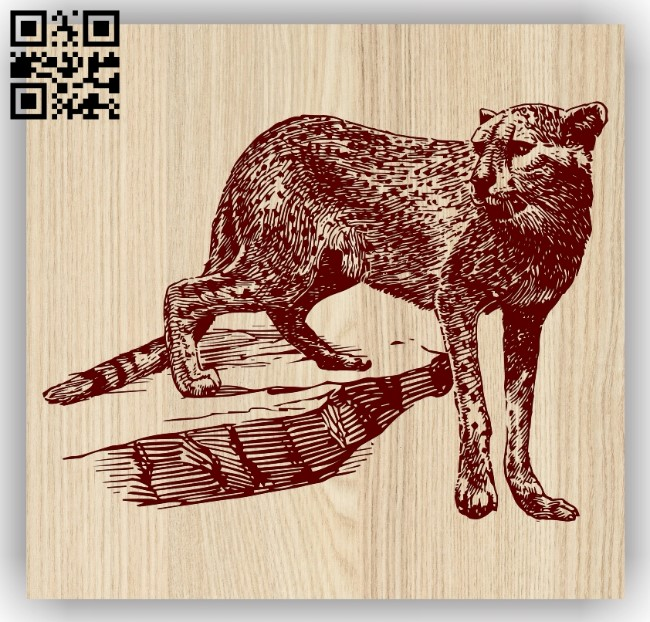 leopard E0013577 file cdr and dxf free vector download for laser engraving machine
