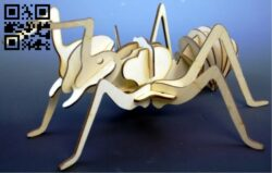 Ant 3D puzzle E0013733 file cdr and dxf free vector download for laser cut