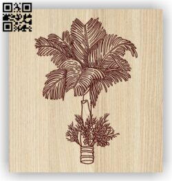 Areca tree E0013955 file cdr and dxf free vector download for laser engraving machine