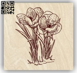 Autumn flower E0013754 file cdr and dxf free vector download for laser engraving machine