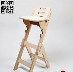 Bar stool E0013732 file cdr and dxf free vector download for laser cut