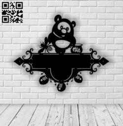 Bear address table E0013986 file cdr and dxf free vector download for laser cut plasma