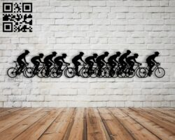 Bicycle crew E0013846 file cdr and dxf free vector download for laser cut plasma