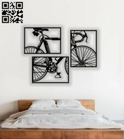 Bicycle wall decor E0013883 file cdr and dxf free vector download for laser cut plasma