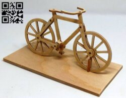 Bicycle E0013850 file cdr and dxf free vector download for laser cut