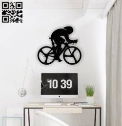 Bike racer E0013799 file cdr and dxf free vector download for laser cut plasma