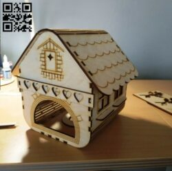 Bird house E0014007 file cdr and dxf free vector download for laser cut