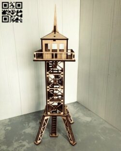 Border observation tower E0014037 file cdr and dxf free vector download for laser cut