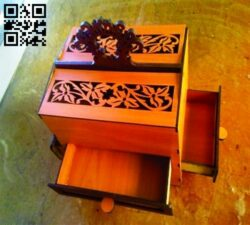 Box with drawers E0013863 file cdr and dxf free vector download for laser cut