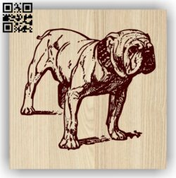 Bull dog E0013952 file cdr and dxf free vector download for laser engraving machine