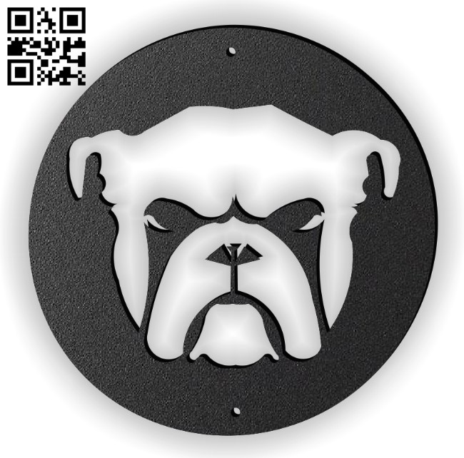 Bull dog E0014040 file cdr and dxf free vector download for laser cut plasma
